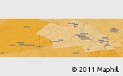"""Political Panoramic Map of the area around 43°27'40""""N,80°40'30""""W"""