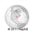Outline Map of Centralia, rectangular outline