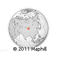 """Outline Map of the Area around 43° 27' 40"""" N, 87° 37' 30"""" E, rectangular outline"""