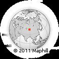 Outline Map of Xigou, rectangular outline