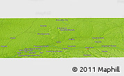 """Physical Panoramic Map of the area around 43°53'30""""N,0°46'30""""W"""
