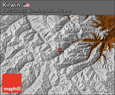 Kirwin Wyoming Map.Free Physical 3d Map Of Kirwin