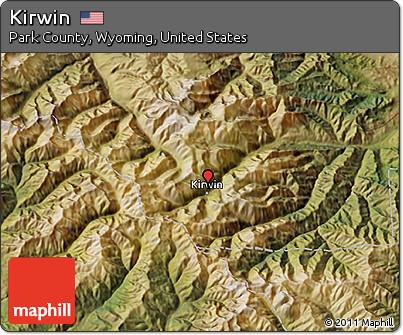 Kirwin Wyoming Map.Free Satellite 3d Map Of Kirwin