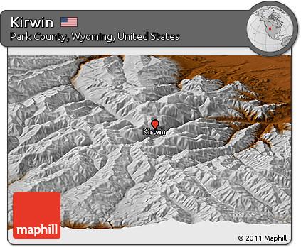 Kirwin Wyoming Map.Free Physical Panoramic Map Of Kirwin