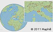 "Savanna Style Location Map of the area around 43°53'30""N,11°7'30""E"
