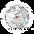 Outline Map of Quarto, rectangular outline
