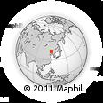 Outline Map of Xiaojieji, rectangular outline