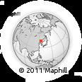 Outline Map of Jingyue, rectangular outline
