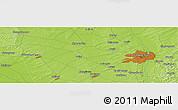 Physical Panoramic Map of Changchun