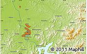 Physical Map of Jilin