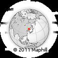 Outline Map of Jilin, rectangular outline