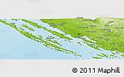 Physical Panoramic Map of Debeljak