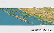 Satellite Panoramic Map of Debeljak
