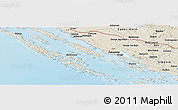 Shaded Relief Panoramic Map of Debeljak