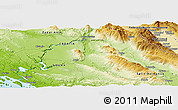 Physical Panoramic Map of Knin