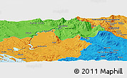 Political Panoramic Map of Knin