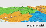 Political Panoramic Map of Kovačić