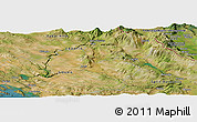 Satellite Panoramic Map of Knin