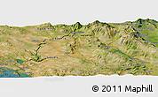 Satellite Panoramic Map of Kovačić