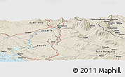 Shaded Relief Panoramic Map of Knin