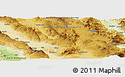 "Physical Panoramic Map of the area around 43° 53' 30"" N, 17° 4' 30"" E"