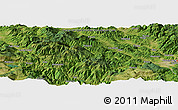 Satellite Panoramic Map of Bačevo