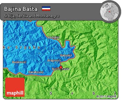 Free Political Map Of Bajina Basta