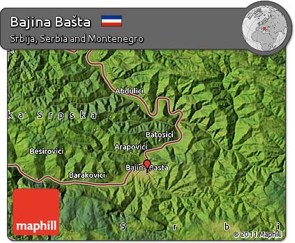 Free Satellite Map Of Bajina Basta