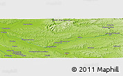 "Physical Panoramic Map of the area around 43° 53' 30"" N, 1° 46' 29"" E"