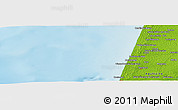 """Physical Panoramic Map of the area around 43°53'30""""N,1°37'30""""W"""
