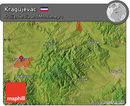 Free Satellite Map of Kragujevac