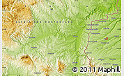 """Physical Map of the area around 43°53'30""""N,22°10'29""""E"""