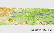 Physical Panoramic Map of Kosta Perchevo