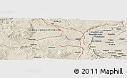 Shaded Relief Panoramic Map of Kosta Perchevo