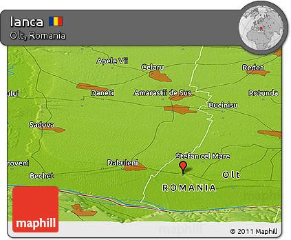 Physical Panoramic Map of Ianca