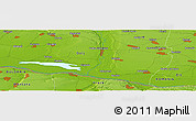 Physical Panoramic Map of Glozhene