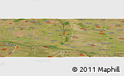Satellite Panoramic Map of Glozhene