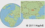 Savanna Style Location Map of Vădăstriţa