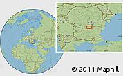 "Savanna Style Location Map of the area around 43°53'30""N,25°34'30""E"
