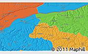 Political 3D Map of Tutrakan