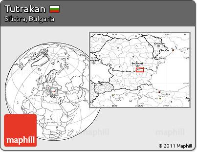 Blank Location Map of Tutrakan