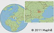 Savanna Style Location Map of Tutrakan