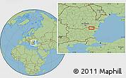 "Savanna Style Location Map of the area around 43°53'30""N,27°16'29""E"