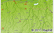 """Physical Map of the area around 43°53'30""""N,27°16'29""""E"""