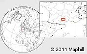 Blank Location Map of Saint-Sernin-sur-Rance