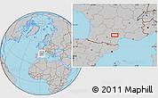 Gray Location Map of Saint-Sernin-sur-Rance