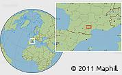 Savanna Style Location Map of Saint-Sernin-sur-Rance