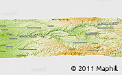 Physical Panoramic Map of La Martinié
