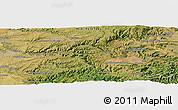 Satellite Panoramic Map of Saint-Sernin-sur-Rance