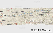 Shaded Relief Panoramic Map of Saint-Sernin-sur-Rance